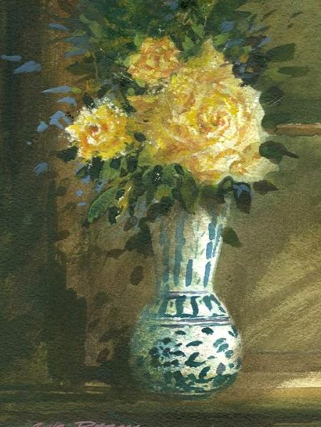 """Yellow Roses""  Sold"