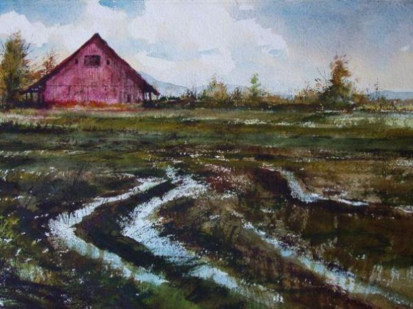 """Wet Fields""  Sold"