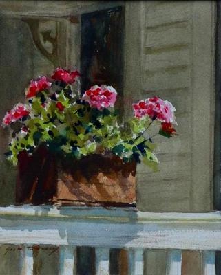 """""""Back Porch Geraniums"""" Sold"""